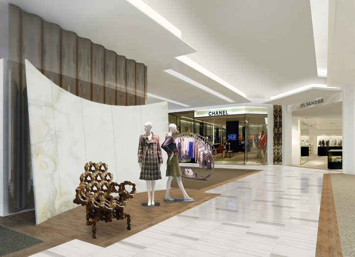A rendering of Saks' renovated designer floor, with a more integrated flow.