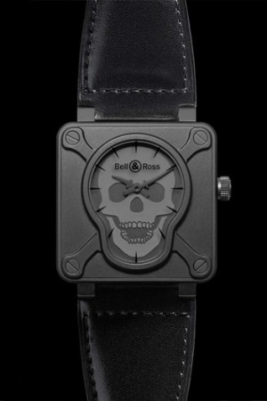 A skull watch from Bell & Ross' limited edition BR01 Airborne line.