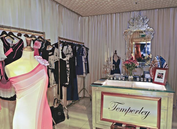 Inside Temperley London.