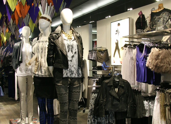 Views of the Topshop store