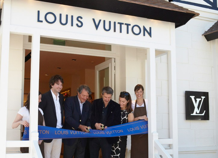 Ribbon cutting at Villa Vuitton in Deauville.