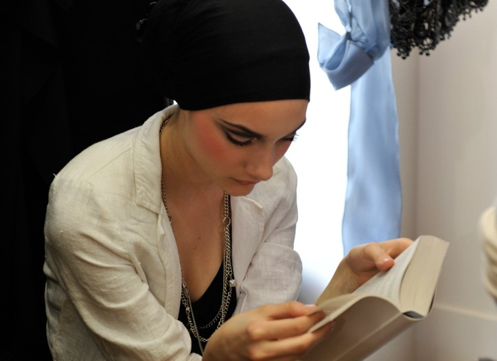 Backstage at Christian Lacroix Fall Couture 2009
