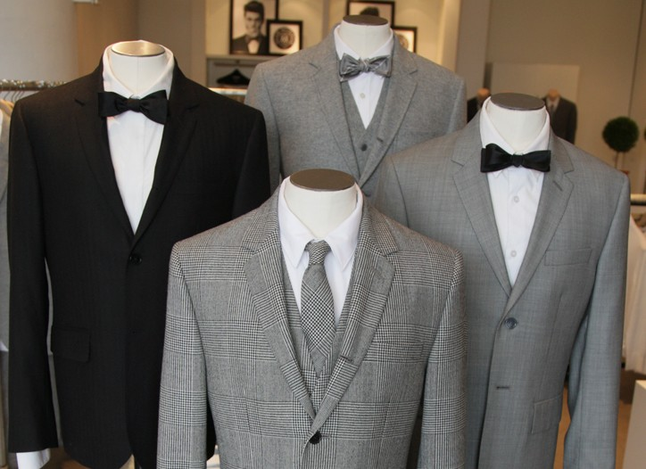 Club Monaco's new line has two distinct silhouettes of suits.