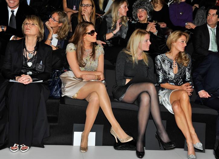 Clients at the Armani Privé show last January.