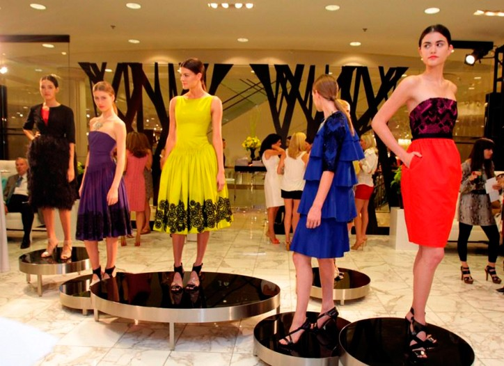 Models at a Jason Wu event at Nordstrom at NorthPark Center.