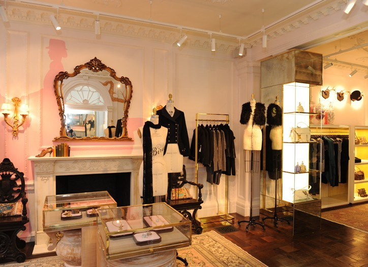 Interior of the new Juicy Couture London store.
