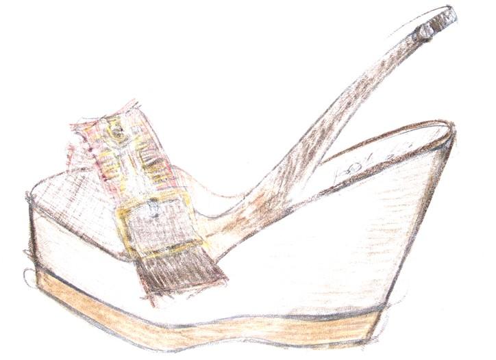 A sketch of Kooba footwear.