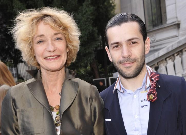 Loulou de la Falaise and Alexis Mabille