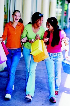 Even in tough economic times, teens are still spending at the mall.