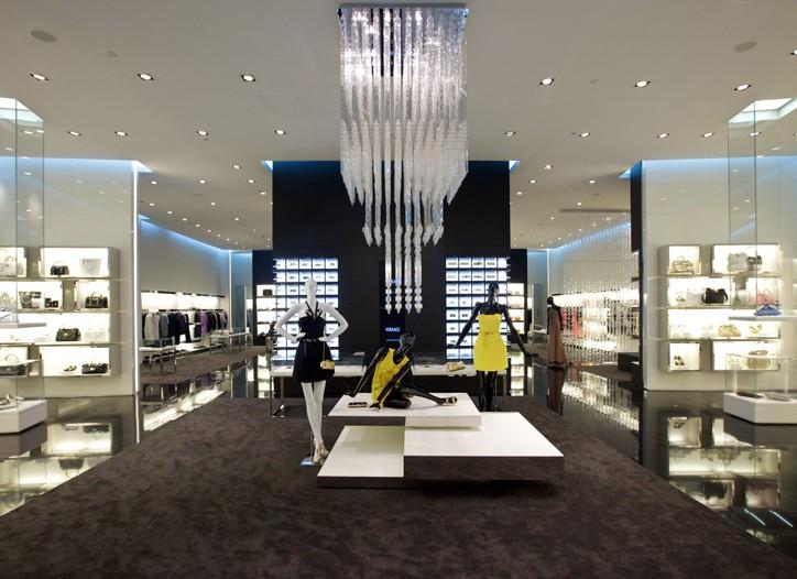Inside Versace's Dubai Mall store.