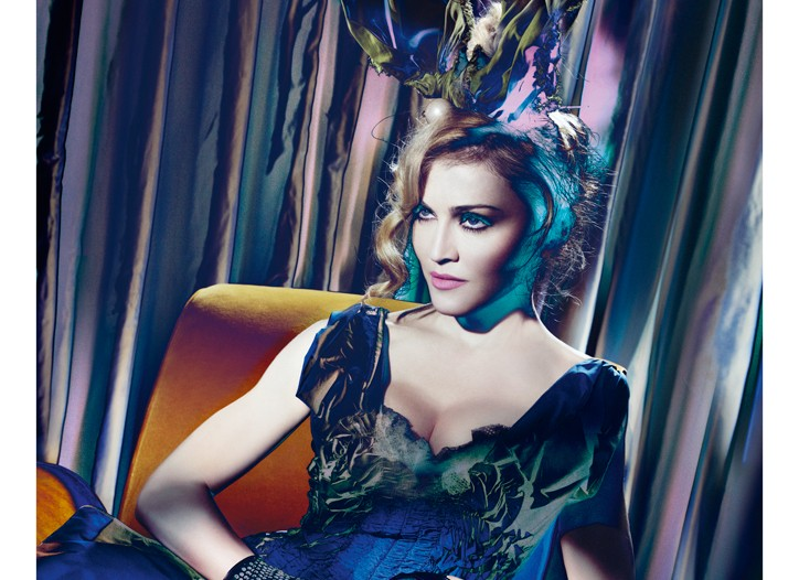 Madonna in Louis Vuitton's fall ad.
