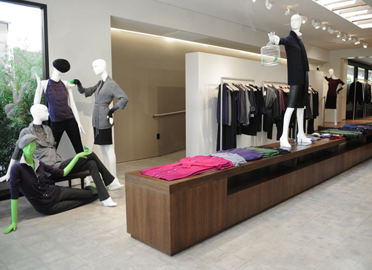 Vince's new store on Melrose Place.