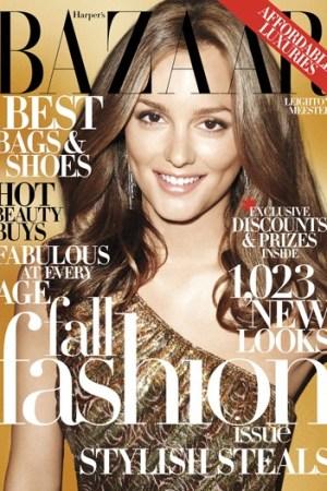 Cover of Bazaar's September 2009 issue.