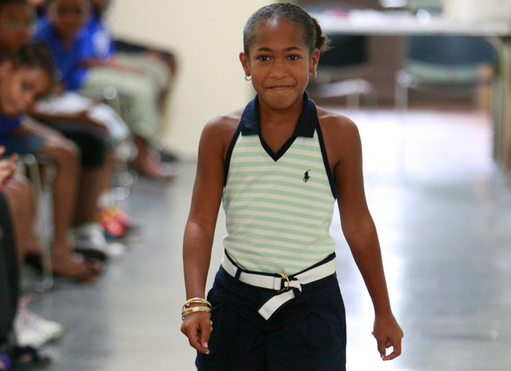 The Boys & Girls Club of Harlem prepare for a fashion show set to take place on Aug. 20 at Macy's in Herald Square.