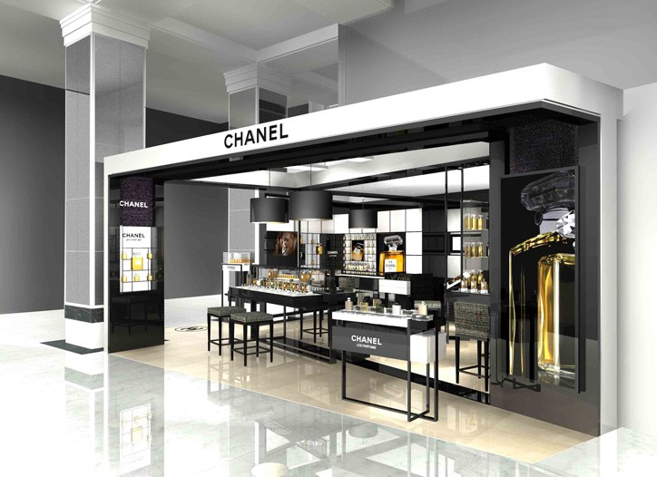 A rendering of Chanel's in-store boutique at Selfridges.