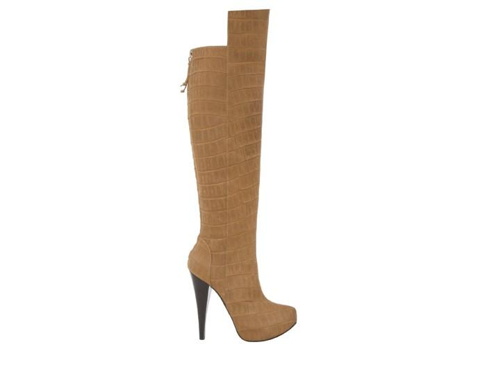 Alberta Ferretti crocodile-embossed leather boot