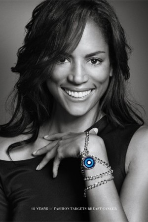 Veronica Webb stars in the campaign to celebrate the 15th anniversary of Fashion Targets Breast Cancer.