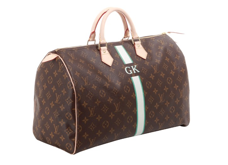 Louis Vuitton offers its fledgling Mon Monogram personalization service in its travel collection.