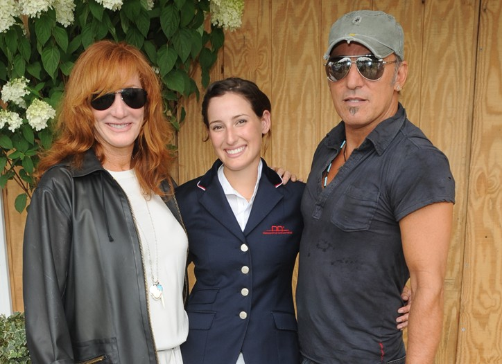 Patti Scialfa, Jessica Springsteen and Bruce Springsteen.