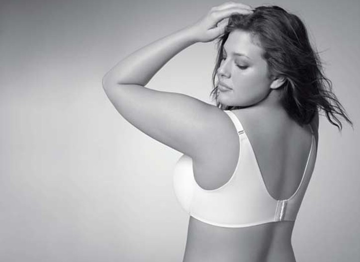 A look at a point-of-sale visual for the Cacique Back Smoothing Bra.