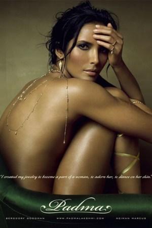 Padma Lakshmi's new jewelry campaign, shot by Steven Meisel.