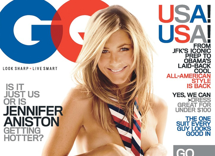 Cover of GQ featuring Jennifer Aniston.
