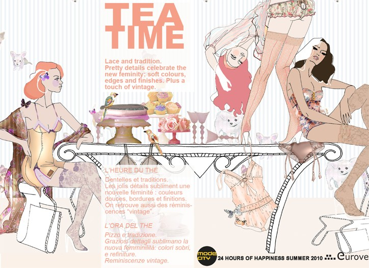 The Tea Time trend represents a mix of lace, tradition with a touch of vintage.
