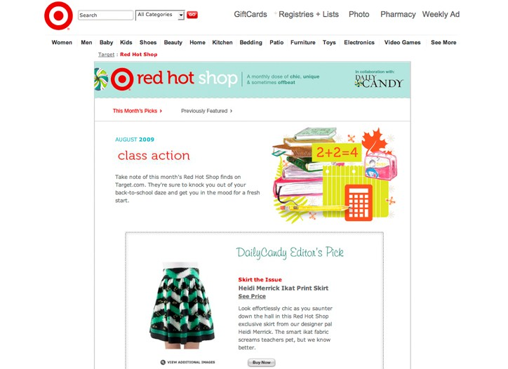Red Hot Shop features products curated by Daily Candy.