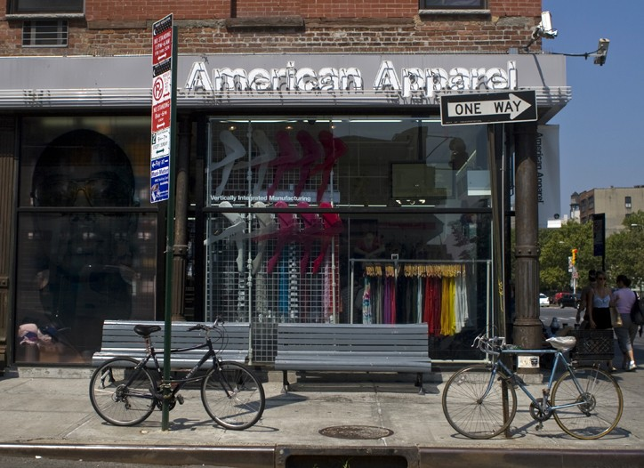 The American Apparel store on the Lower East Side is one of seven the retailer has equipped with RFID to better manage its huge assortment of styles.