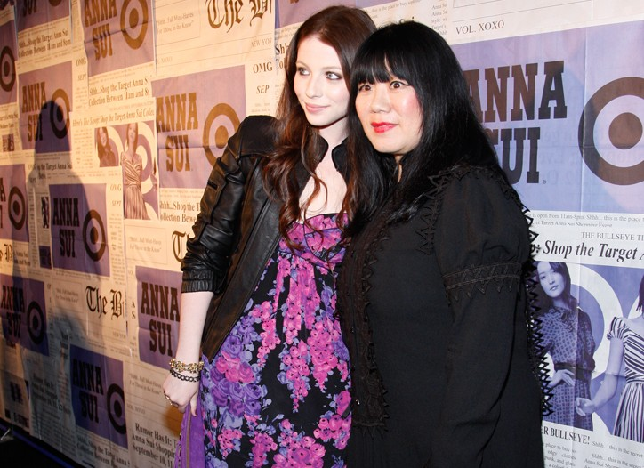 Michelle Trachtenberg and Anna Sui