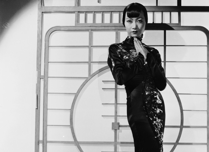 """Anna May Wong in """"Limehouse Blues,"""" wearing a costume by Travis Banton in 1934."""
