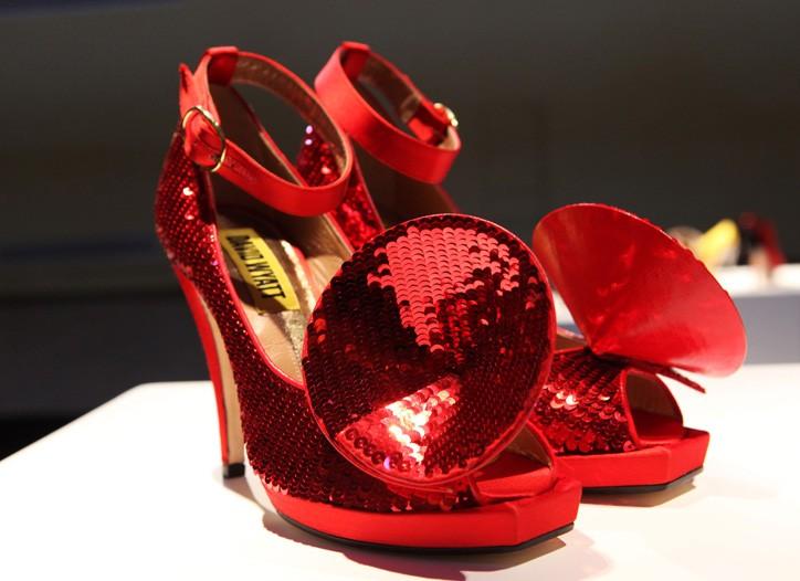 David Wyatt's sequin shoes.