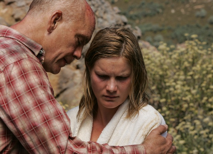 "Jessica Haines with John Malkovich in ""Disgrace."""
