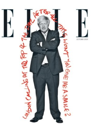 Boris Johnson on the cover of British Elle.