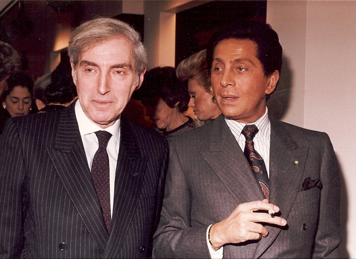 Ernest Marx with Valentino.