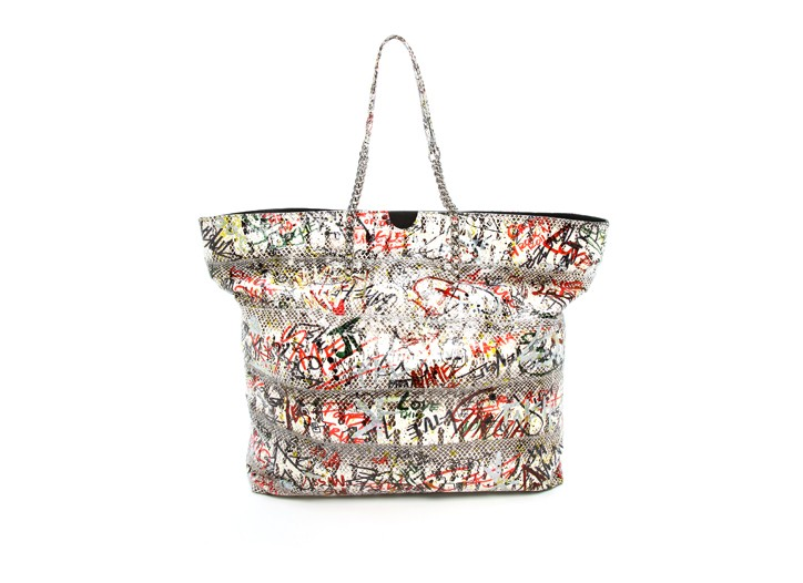 A bag from Carlos Falchi's Graffiti Collection.