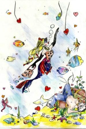 An Alber Elbaz illustration for Mika.
