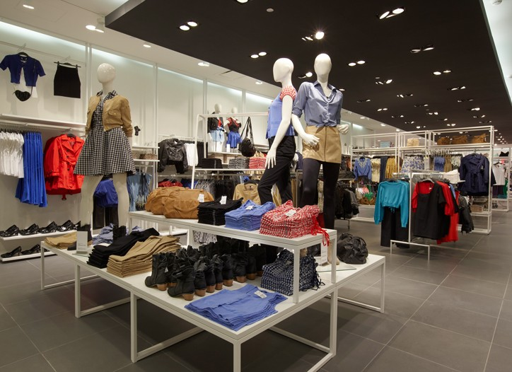 The H&M store in Moscow.