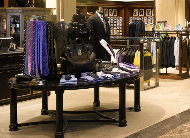 The new accessories department at Harrods.