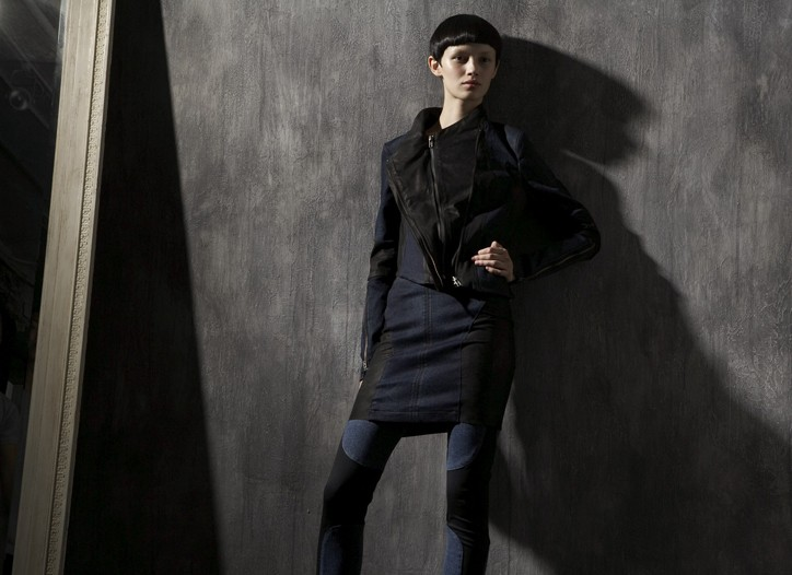 A look from Helmut Lang's denim collection.