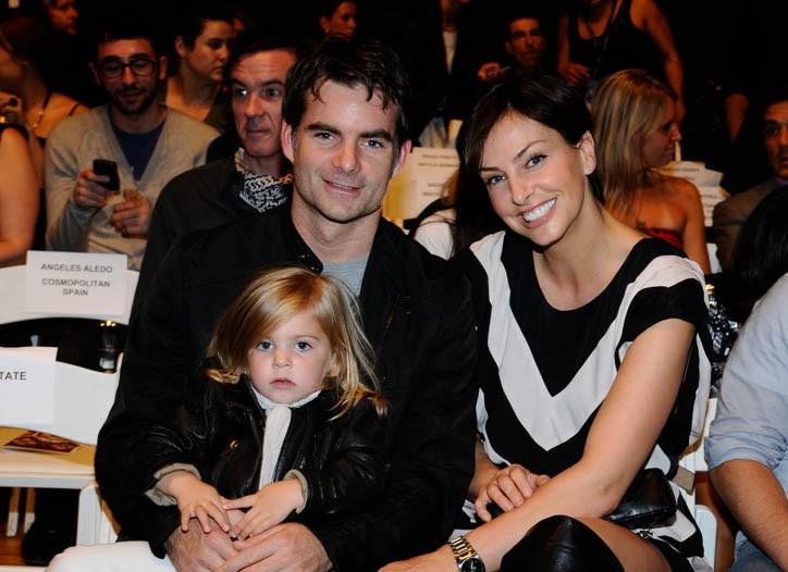 Jeff Gordon and Ingrid Vandebosch with their daughter Ella