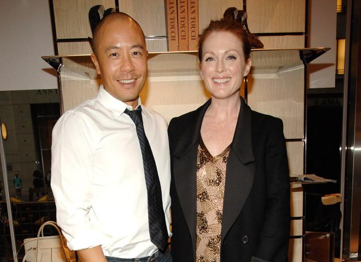 Derek Lam and Julianne Moore