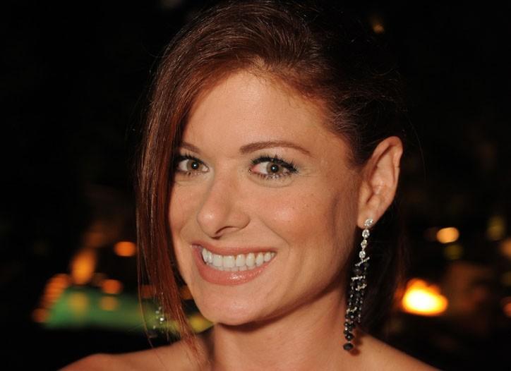 Debra Messing in Martin Katz Black and White Diamond Earrings.