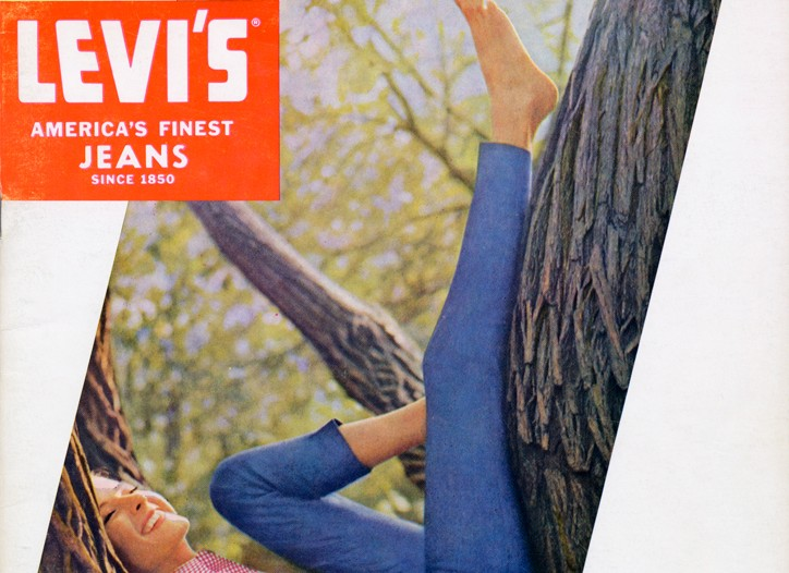 A 1964 Levi's ad for women's jeans.
