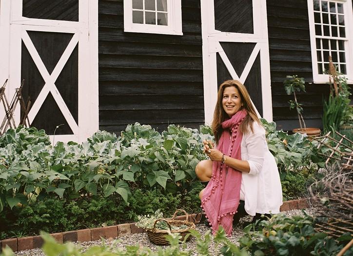 Deborah Needleman in her garden.