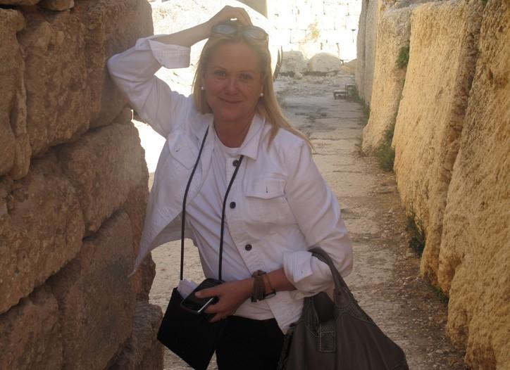 Nina Griscom in Beirut, Lebanon.