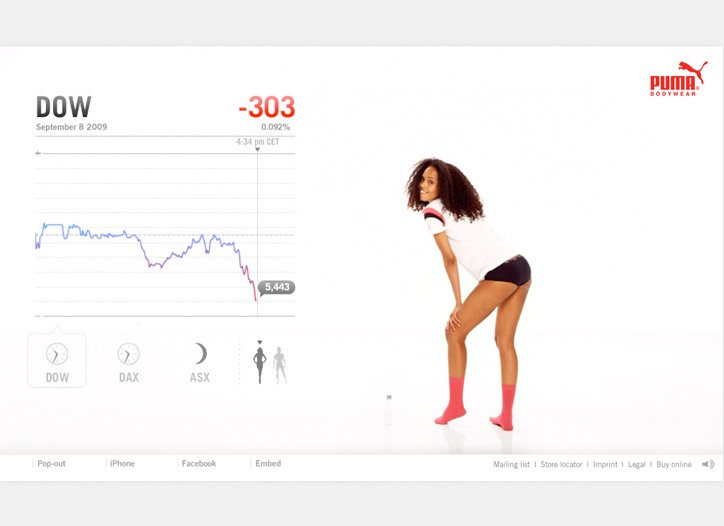 An image from the digital video campaign for Puma.