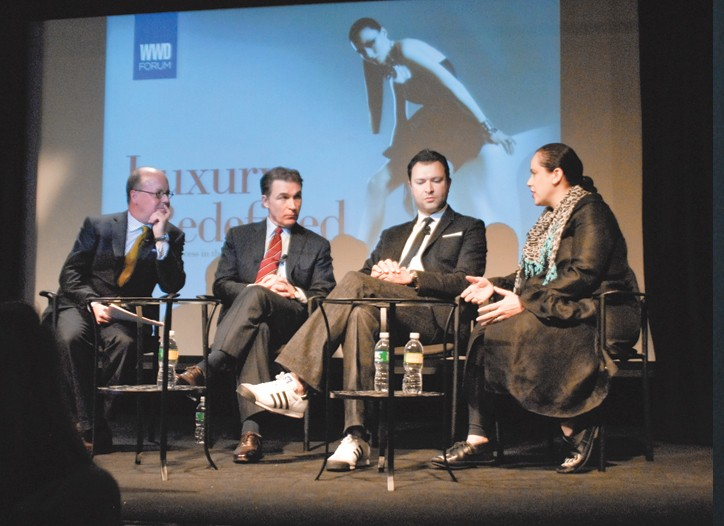 "From left: Robert Burke, Joseph M. Boitano, Khajak Keledjian and Ikram Goldman at the ""Luxury Redefined"" forum."
