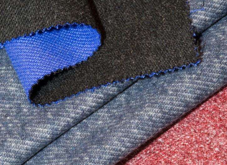 Double-sided fabrics from Lanificio Botto Giuseppe.
