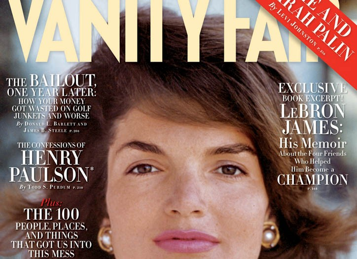 The October 2009 cover of Vanity Fair.